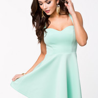 KEYHOLE BACK DRESS