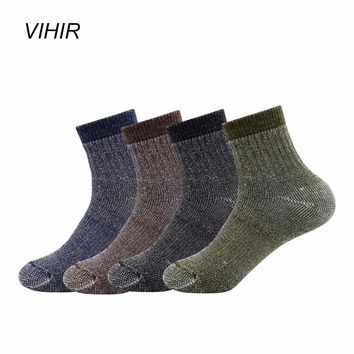 Vihir Mixed Color Merino Wool  Winter Ankle Outdoor Sports Socks for Skiing Hiking Cycling Camping socks