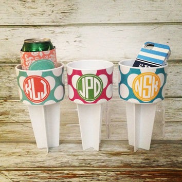 Personalized Monogram Beach Sand Spikers Set of 6