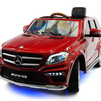 Mercedes GL63 AMG 12V Kids Ride-On Car with Parental Remote | Red Metallic