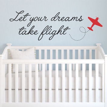 Dreams Take Flight Quote Wall Decal