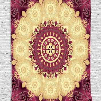 Indian Tapestry Wall Hanging Sandy Blanket Camping Mattress Tablecloth Sleeping Pad multiple uses Beach towel Sunscreen shawl