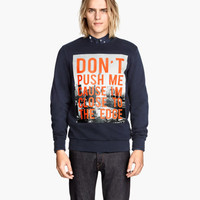Printed Sweatshirt - from H&M