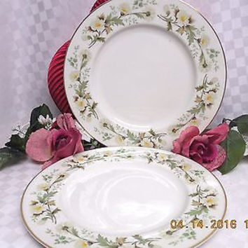 Royal Doulton White China England Clairmont Pattern #TC1033-  2 Dinner