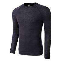 PREMIUM Mens Lightweight Raglan Long Sleeve Crewneck Shirt (CLEARANCE) (CLEARANCE)