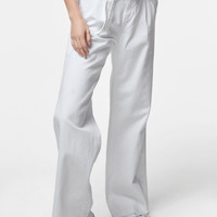 Tie-Waist Pant In White