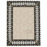 Parisian Home Ornate Metal Jeweled Cut Rectangular Picture Frame / Photo Frame 4 x 6 (Antique Bronze)