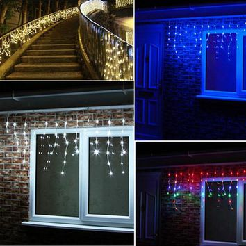 Holiday Lighting 5M 216LEDs Waterproof String Light Fairy Icicle LED Curtain Light For Festival Christmas Garland Decoration