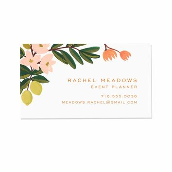 Citrus Floral Personalized Stationery by RIFLE PAPER Co.   Made in USA