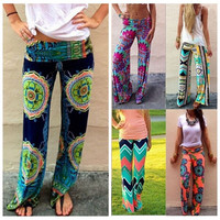 S M L Fashion Women Thai Floral Yoga Beach Baggy Boho Gypsy Loose Harem Pants Trousers = 1932383172