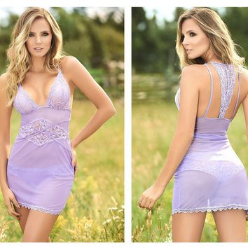 Mapale 7133 Babydoll With Matching Panty Color Lilac