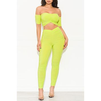 Next To You Two Piece Set Lime