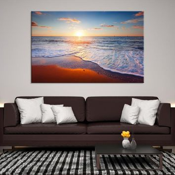 68808 - Sunset on Waves and Ocean Canvas Print