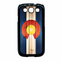 Colorado State Flag Wood Design Samsung Galaxy S3 Case