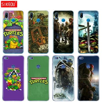 Silicone Cover Phone Case For Huawei P20 P7 P8 P9 P10 Lite Plus Pro 2017 P Smart TMNT Teenage Mutant Ninja Turtles