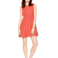 Kate Spade Leopard Dot Pleated Dress Flamingo Pink