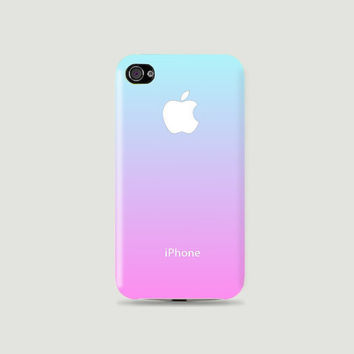 Gradient Sweet Sky Blue & Pink color Plastic Hard Case - iphone 5 - iphone 4 - iphone 4s - Samsung S3 - Samsung S4 - Samsung Note 2