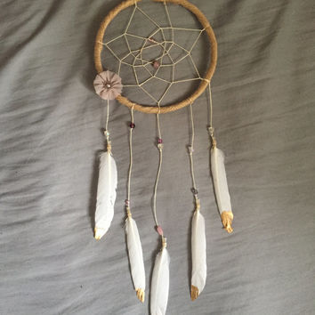 Golden Daze Part Three Boho Dreamcatcher Wall Hanging