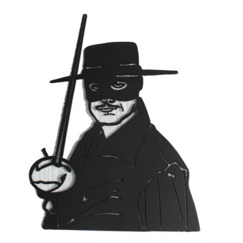 Zorro Metal Wall Art Movie and Home Theater Decor