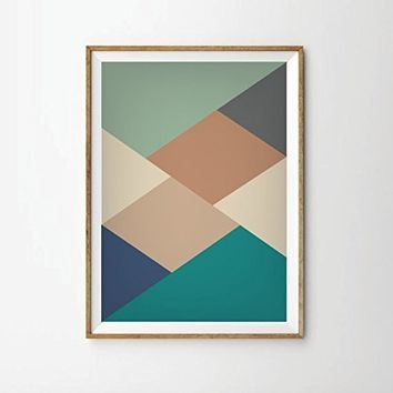 Poster, Mid Century modern, (unframed) mid century art style, Art print, retro Print Poster, Geometric Art Print, scandinavian, scandinavian art, modern art, contemporary art