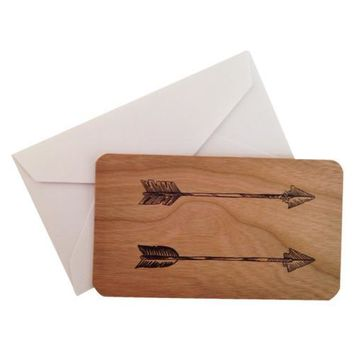 Mini Wood Card Arrows