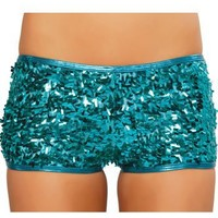 Sequin Shorts(TURQUOISE,SM)