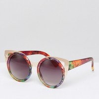 Jeepers Peepers COLORED Frame Sunglasses With Gold Hardware at asos.com