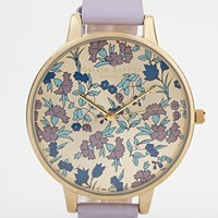 Olivia Burton Lilac Paisley Face Watch - Purple