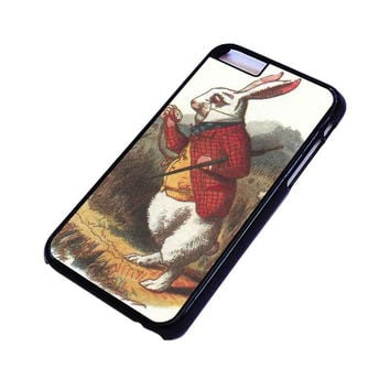 WHITE RABBIT ALICE IN WONDERLAND Disney iPhone 4/4S 5/5S 5C 6 6S Plus Case Cover