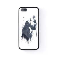 Wolf Song 3 Black Silicon Case Rubber Case for Apple iPhone 5 / 5s by Balazs Solti