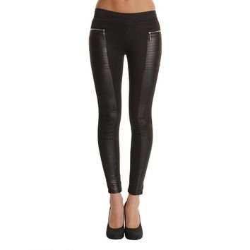 Summer Autumn 2015 New Low-Waist Sexy Soild Black PU Leather Leggings Women Leggings Plus Size S-XL Skinny Leggings