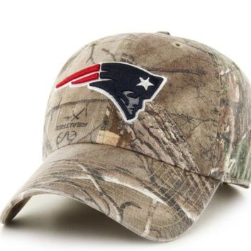 ONETOW Forty Seven Brand New England Patriots RealTree Clean Up Hat In RealTree