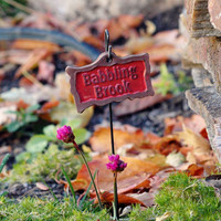 Sign - Babbling Brook - My Fairy Gardens
