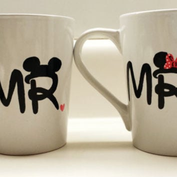 Mr and Mrs Disney Minnie and Mickey Couples 14 oz Mug Set of 2