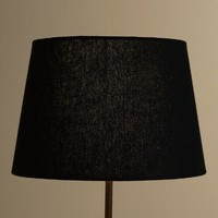 Black Linen Accent Lamp Shade