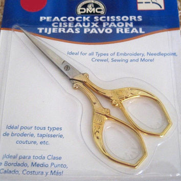 "DMC 3-3/4"" Peacock Scissors Stainless Steel Blades 6125/3"