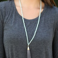 Silver Shimmer Long Necklace