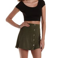 Lace-Up Back Cotton Crop Top by Charlotte Russe