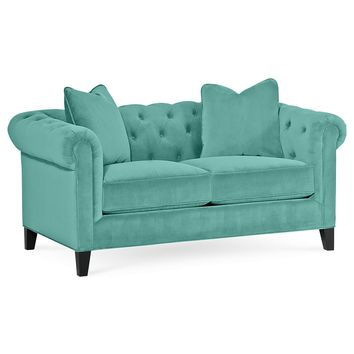 Rayna Fabric Loveseat, 66W x 38D x 30H: Custom Colors - Couches & Sofas - furniture - Macy's