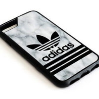 Top!!!Adidas2018 Striped White Marble iPhone 7 and 7 Plus Hard Protect Case