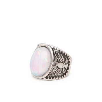 Gypsy Warrior Stone Thunderbird Ring - Womens Jewelry - Purple - One