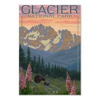 Spring Flowers - Glacier National Park, MT Posters from Zazzle.com