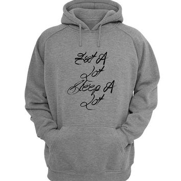 eat a lot sleep a lot Hoodie Sweatshirt Sweater Shirt Gray for Unisex size with variant colour
