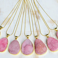 PINK DRUZY ➳ CRYSTAL GOLD SNAKE CHAIN NECKLACE