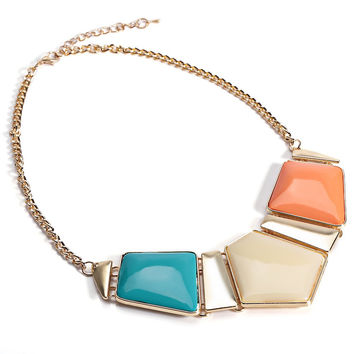 Vintage Statement Jewelry Collar Power Stylish Candy Color Necklace Women Ethnic Natural Stone Big Necklace Collares Jewelry
