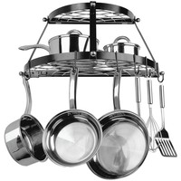 Range Kleen Double Shelf Wall Mount Pot Rack (black)