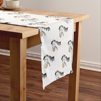 Zebra Short Table Runner