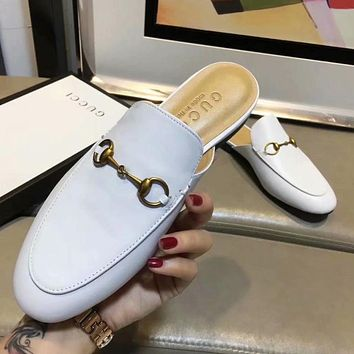 GUCCI Women Fashion Half Slipper Mules Shoes