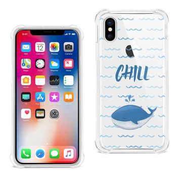 iPhone X Chill With Animated Dolphin Design Air Cushion Case (Clear)