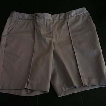 Worthington Twill Shorts 8 Petite New Grey Gray Modern Fit